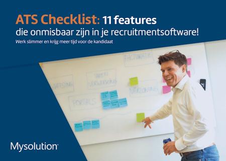 Voorpagina Checklist - Deze 11 functionaliteiten zijn onmisbaar in jouw ATS 2021 Mysolution